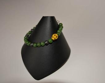 Stone and Skull Bracelet