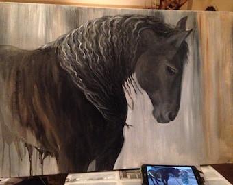 "Horse Painting, Horse Oil Painting, Horse Art, equine art, ""Salvatore"""
