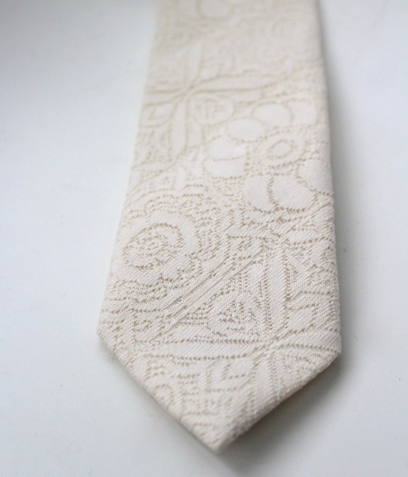 Wedding Attire Champagne Ivory Folk Lace Necktie Bohemian Ties