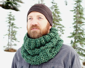 The Stone Pine Cowl   30+ Color Choices   Cozy Chunky Textured Knit Infinity Cowl Scarf