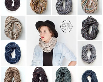 The Skipjack Cowl   Paints   Chunky Knit Infinity Rope Loop Cowl Scarf