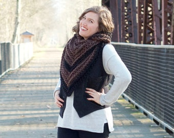 The Stormwater Stole | 22 Color Choices | Chunky Knit Oversized Winter Shawl Scarf