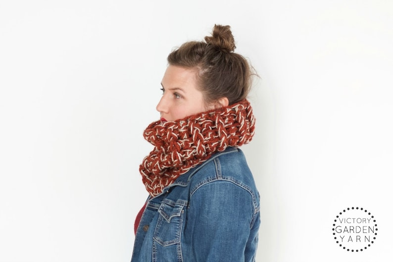 READY TO SHIP  The Brackish Cowl  Cozy Chunky Knit Textured image 0