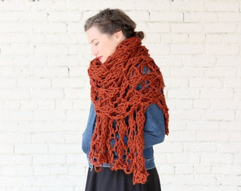 THE WISTERIA WRAP   30+ Color Choices   Chunky Knit Oversized Winter Wrap Scarf