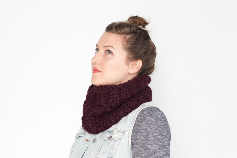 The Stone Pine Cowl  32 Color Choices  Cozy Chunky Textured image 0