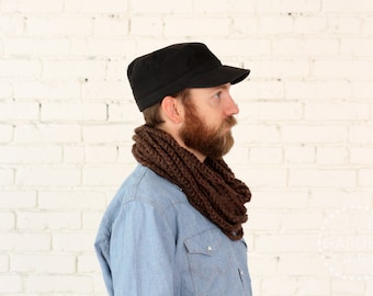 THE SKIPJACK COWL | 21 Color Choices | Mens Chunky Knit Infinity Rope Loop Cowl Scarf