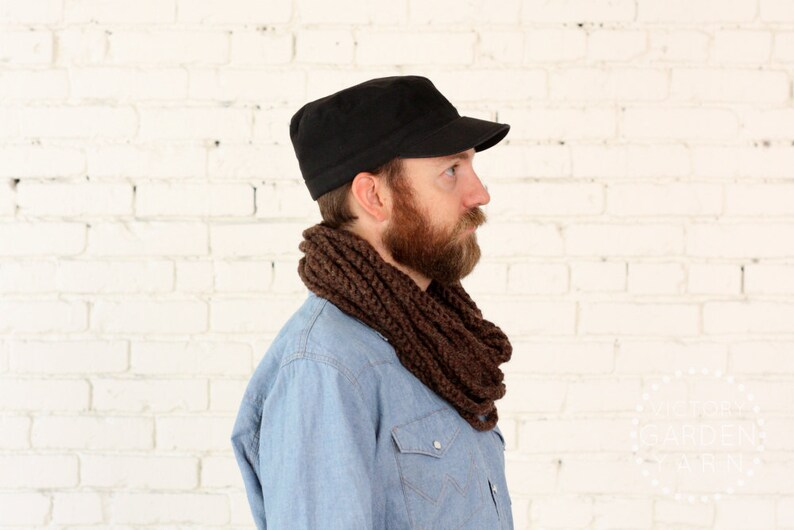 THE SKIPJACK COWL  30 Color Choices  Mens Chunky Knit image 0