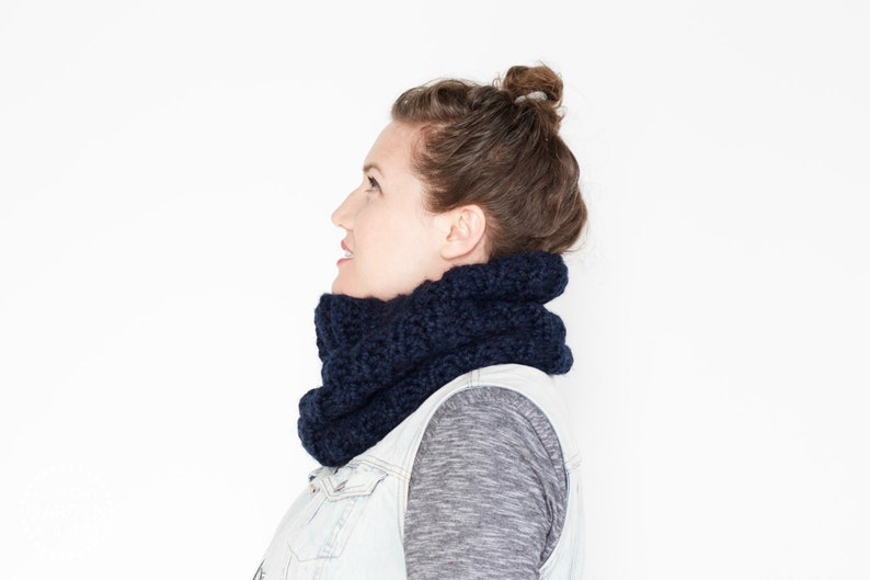 The Stone Pine Cowl  30 Color Choices  Cozy Chunky Textured image 0