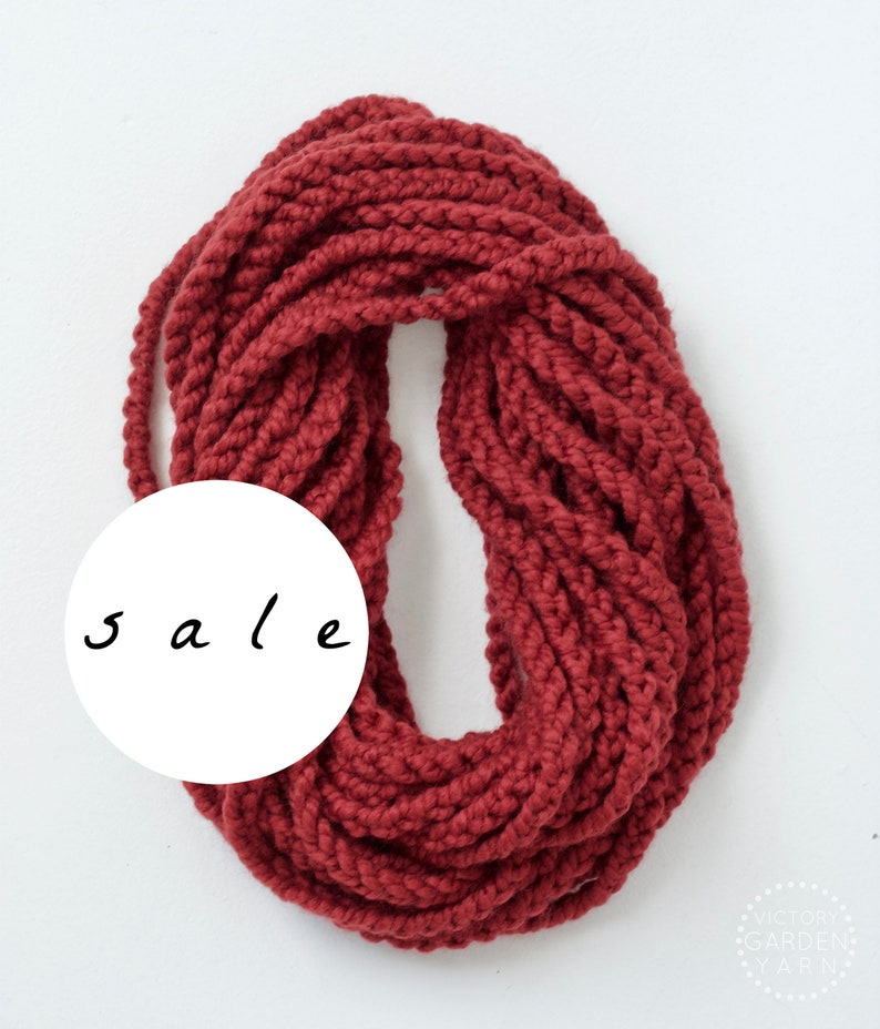 SALE  The Skipjack Cowl  RUSSET  Chunky Knit Infinity Rope image 0