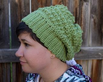 Hand knit. Popcorn stitch beanie Unisex Fun texture Colorful Man Woman Gift