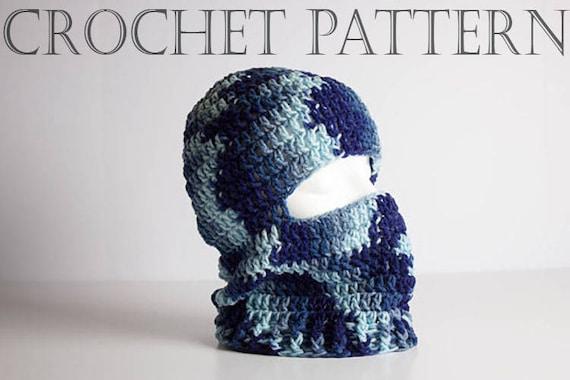Crochet Ski Mask Pattern Hunting Mask Ninja Style Riding Etsy