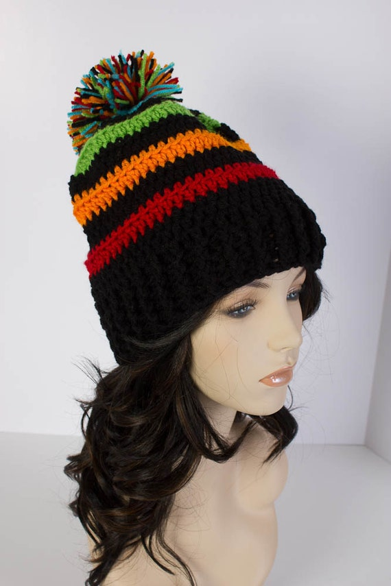 62548b3c6cf Striped Slouchy Beanie Slouch Hat Crochet Beanie for the