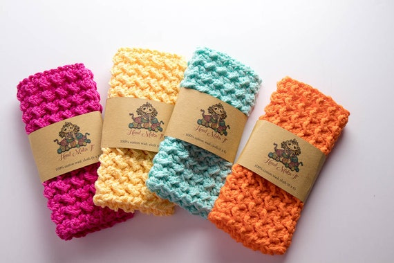 Small Cotton Wash Cloth Kitchen Wash Cloth Crochet Dish Etsy