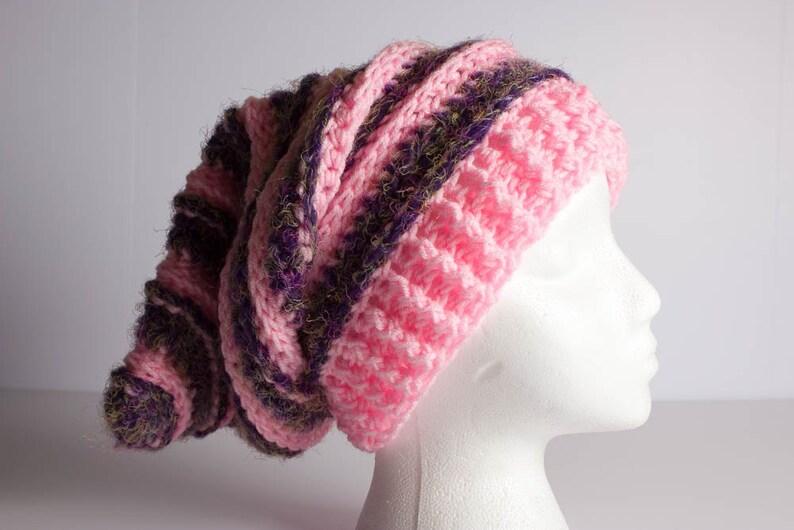 48c561ce3e4 Crochet Hat Ridges Beanie Slouchy Beanie Crochet Beanie