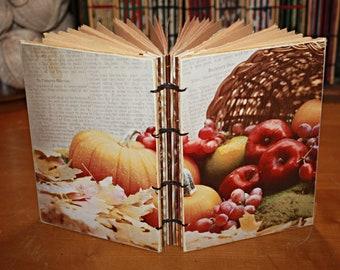 Fall Harvest Journal, Cornucopia Book, Thanksgivings Day Book, Autumn Wedding Guest Book, Gratitude Book, Thanksgiving Hostess Gift
