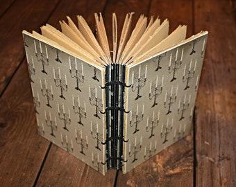 Candelabra Journal, Halloween Guest book, Spell Book, Spooky candelabra, Wicca Book, Hostess Gift, Halloween journal, blank notebook