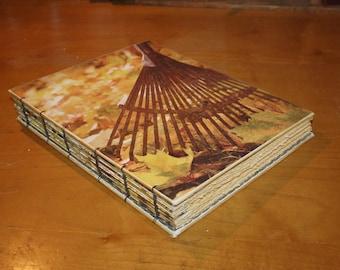 Fall Leaves Harvest Journal, Autumn Wedding Guest Book, Gratitude Book, Thanksgiving Hostess Gift, Blank Writing Notebook