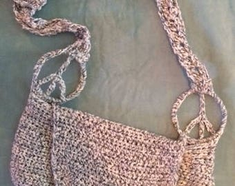 Knit Peace Shoulder Purse