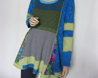 XL to 1X  Turquoise Lime Tunic