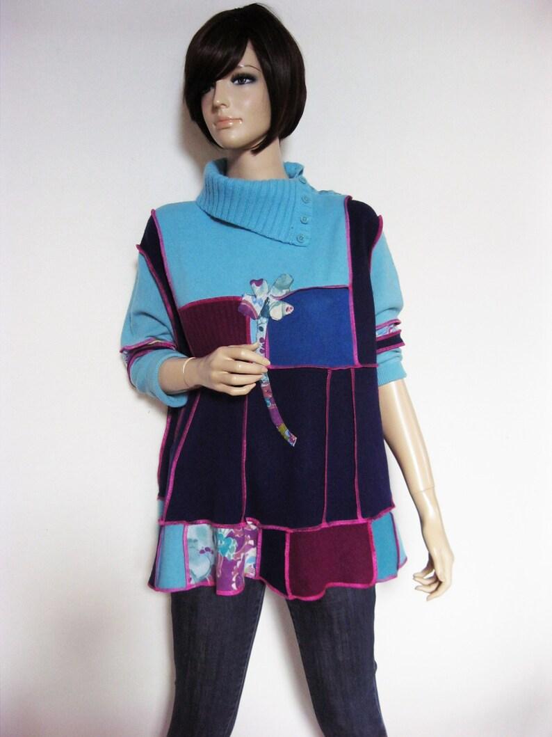 1X to 2X  Short Woman Cashmere Tunic image 0