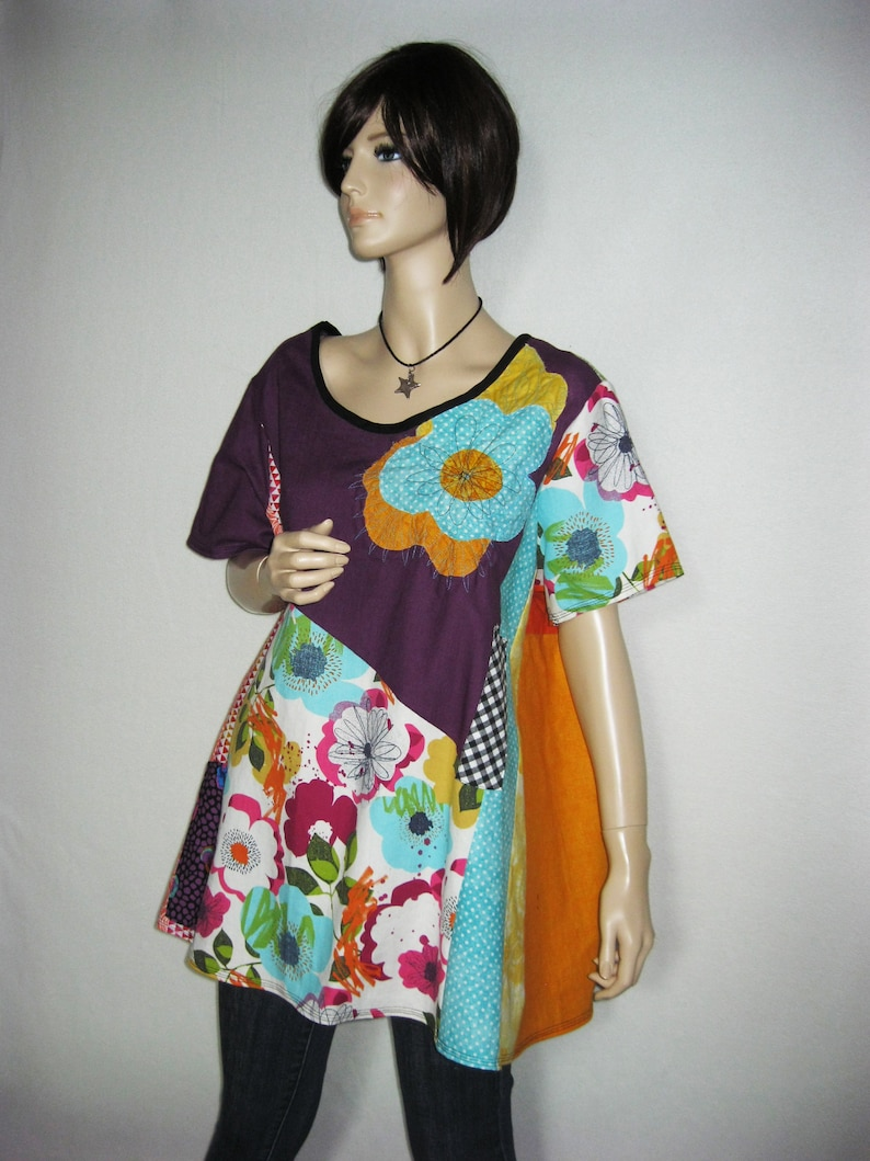 2X to 3X  Linen Summer Tunic image 0