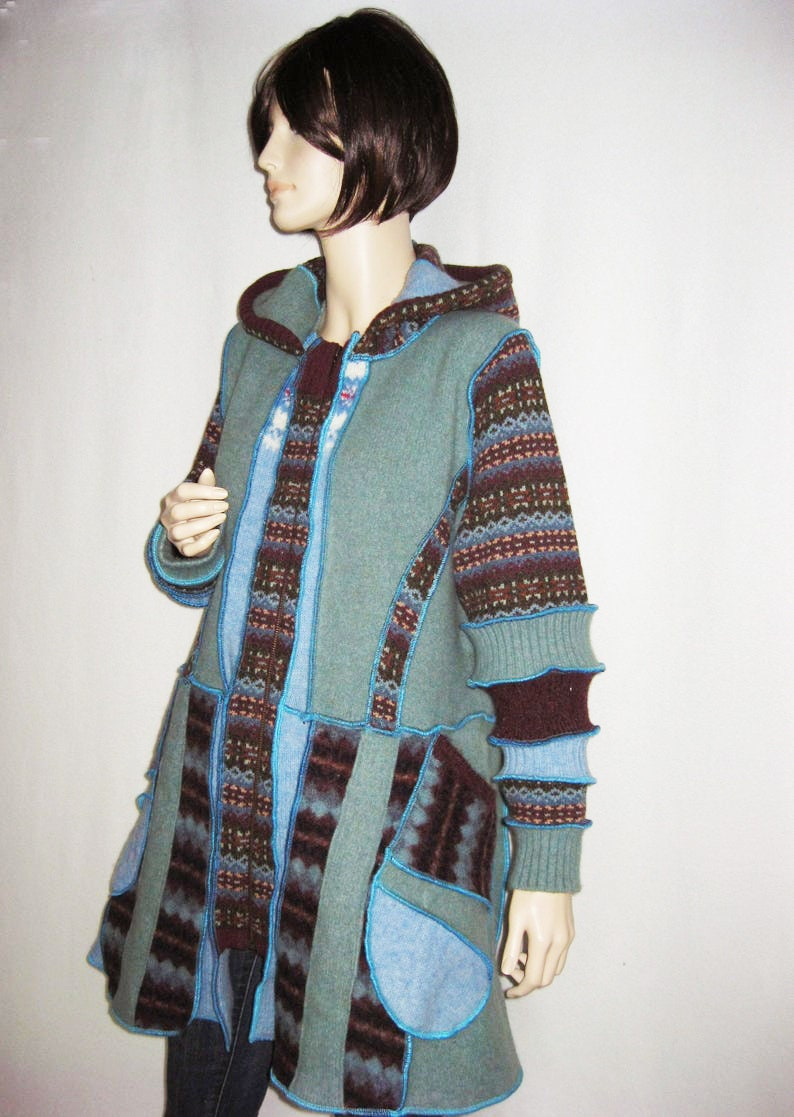 XL to 1X  Wool Coat with Pockets image 0