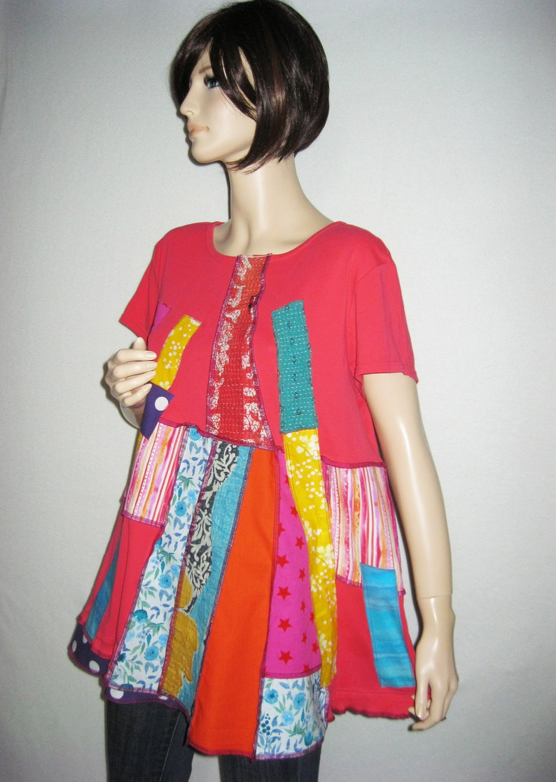 XL to 1X  Colorful Tunic image 0