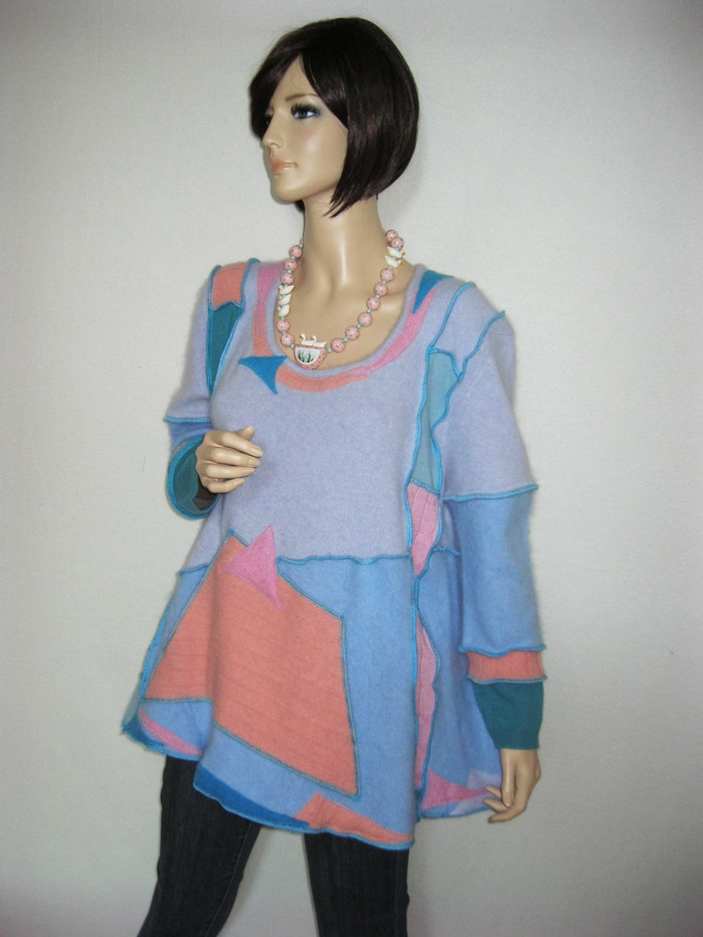 Size XL  Mohair Tunic with Kangaroo Pocket image 0