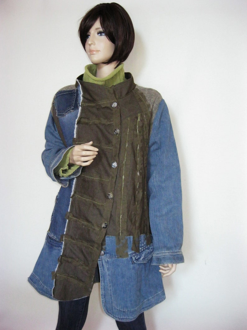1X  Really Funky Jean Sweater Coat image 0