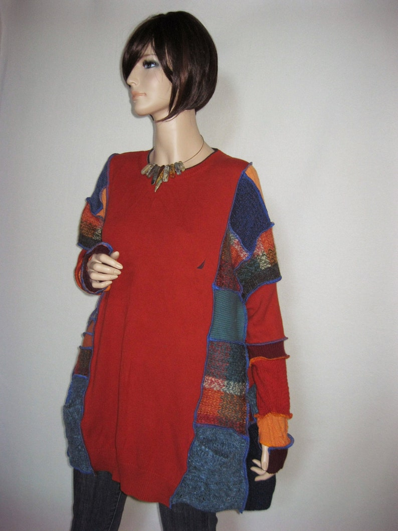 1X to 3X  Poncho Style Tunic image 0