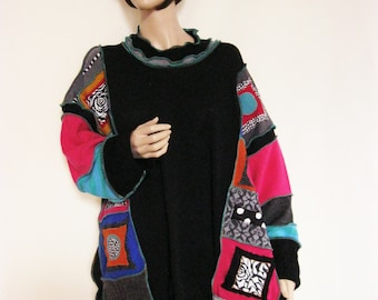 PLUS to 4X  Colorful Poncho Soft NO Itch