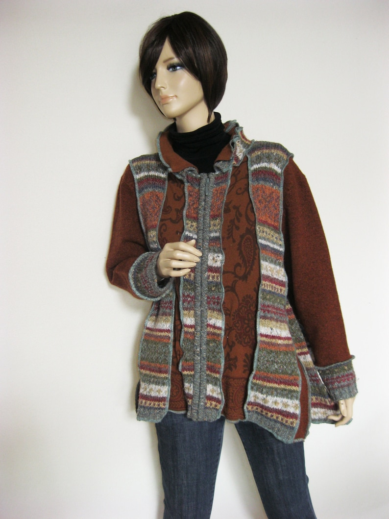 1X to 2X  Acrylic Wool Mix Jacket Cardigan image 0