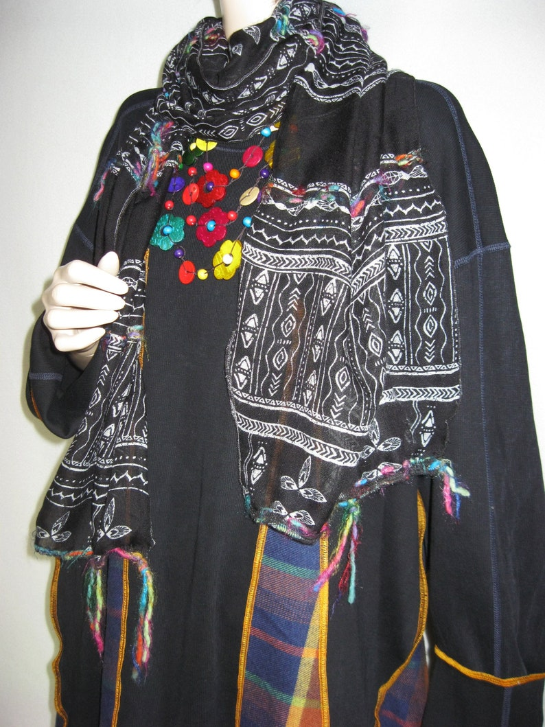 Plus to 3X  Tunic Scarf and Necklace image 0
