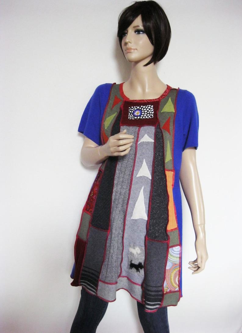 Size L  Wool Tunic Mini Dress image 0