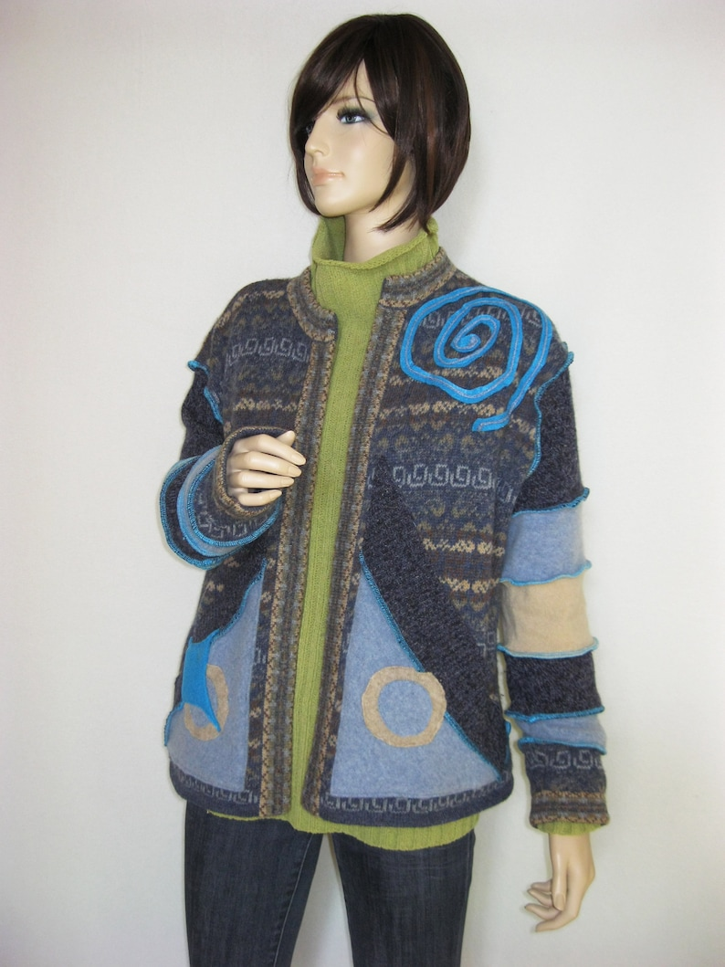 XL Warm Woolly Cardigan Open Jacket image 0