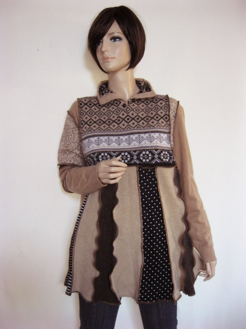 XL to 1X  Camel Color Cashmere Tunic image 0