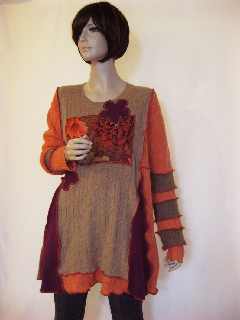 Reserved for Crayons  XL to 1X  Coral Cashmere Tunic image 0