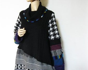 1X  Cowlneck Sweater Tunic