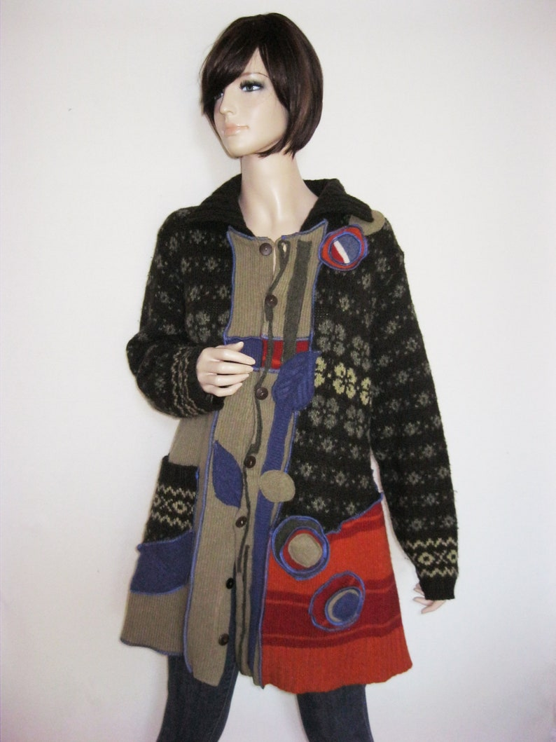 XL Fun Wool Coat with Pocket image 0