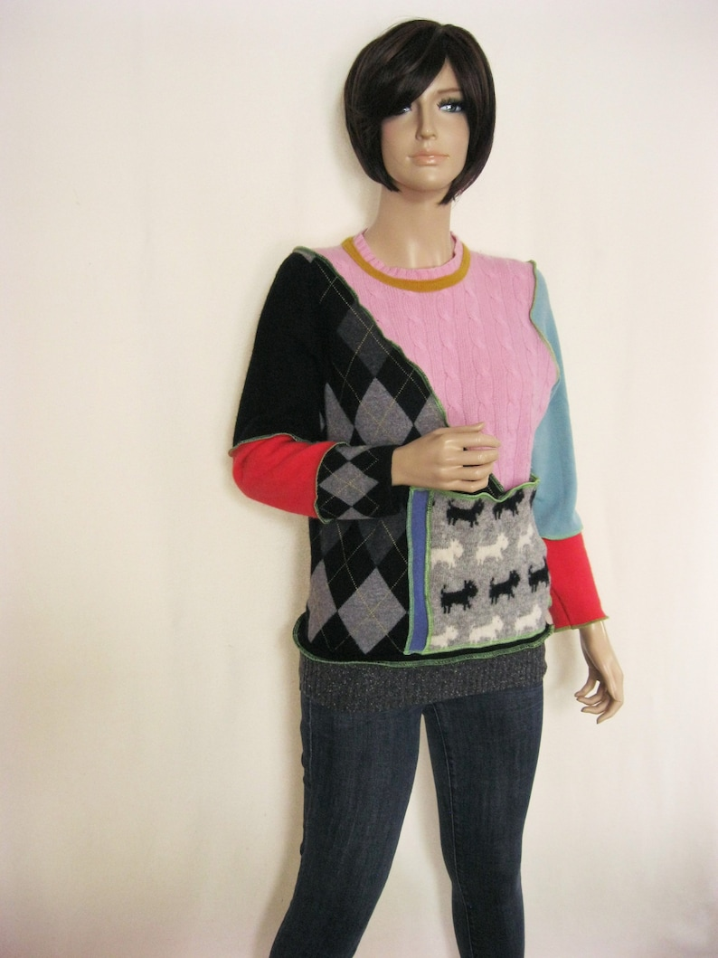 Size L  Colorful Wool Sweater image 0