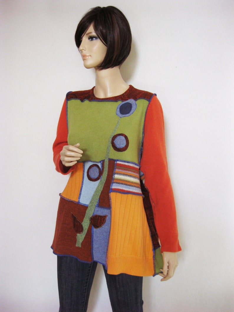 XL Wool Sweater in Fall Colors image 0