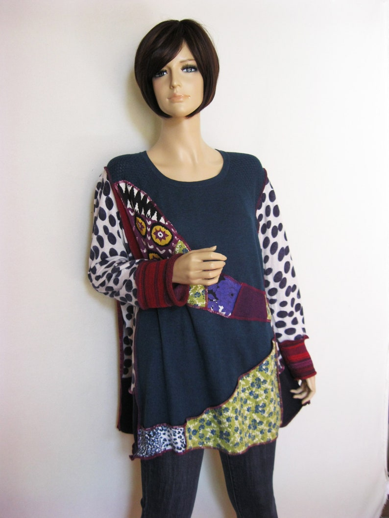 XL to 1X  Oversized Square Cut Tunic image 0