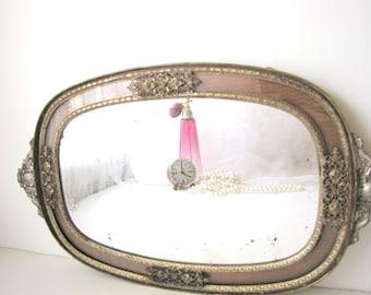 Ormolu Mirror Ornate Gold Rare Apollo