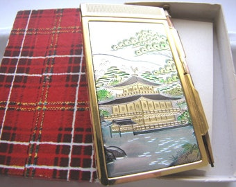 Vintage 50s Asian Compact Notepad Case & Pencil