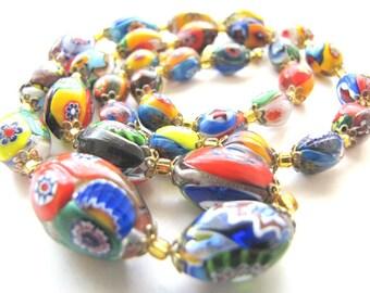 Venetian Millefiori Murano Glass Necklace