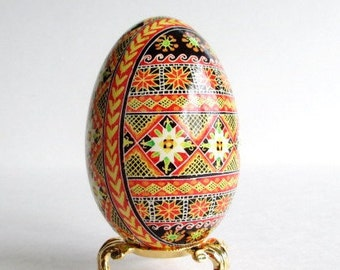 Spectacular Gift for Wife - goose egg Pysanka Traditional Ukrainian gift so detailed and so pretty she will love it personalize it no extras