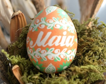 SALE as is in stock egg pysanka for Maia