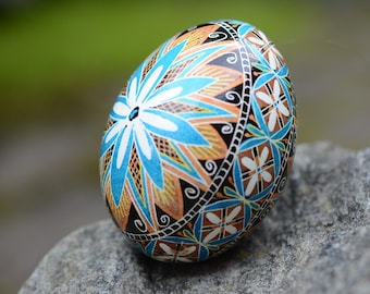 Pysanka egg most popular egg in my shop in turquoise or in pink baby boy girl shower gift Easter