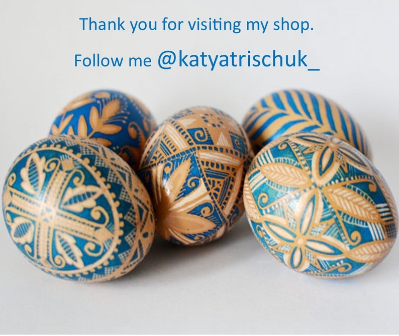 Christmas gift Traditional Ukrainian Pysanky egg ornaments ...