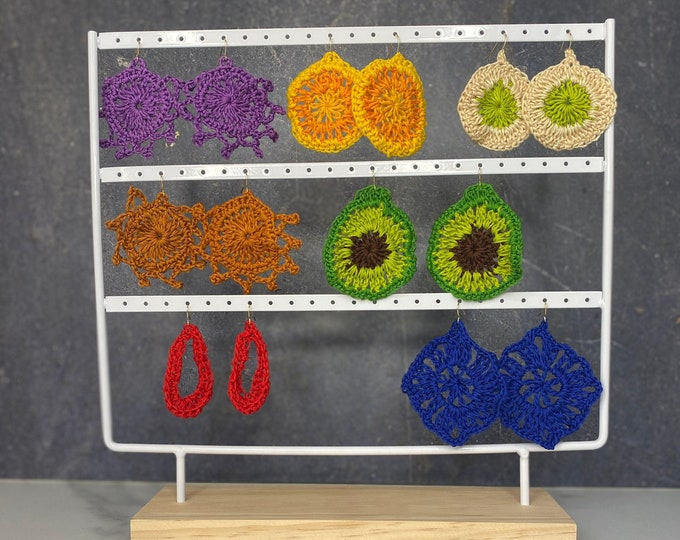 Featured listing image: Crochet earrings   Accessories   Handmade Jewelry   Dangle Earrings   Boho Earrings